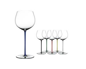 RIEDEL Fatto A Mano Chardonnay (im Fass gereift) Blau auf weißem Hintergrund