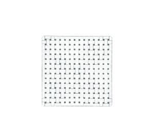 NACHTMANN Bossa Nova Square Plate (21 cm / 8 1/4 in) on a white background