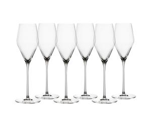 SPIEGELAU Definition Champagnerglas auf weißem Hintergrund