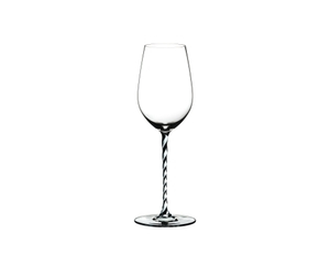 RIEDEL Fatto A Mano Riesling/Zinfandel Black & White R.Q. on a white background