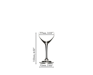 RIEDEL Drink Specific Glassware Nick & Nora a11y.alt.product.dimensions