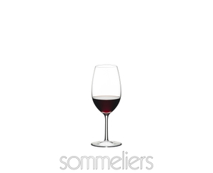 RIEDEL Sommeliers Vintage Port filled with a drink on a white background