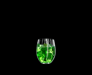 RIEDEL Tumbler Collection Optical O Long Drink filled with a drink on a black background