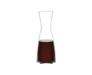 SPIEGELAU Decanter Classic Bar (1.0 l / 33.8 oz) filled with a drink on a white background