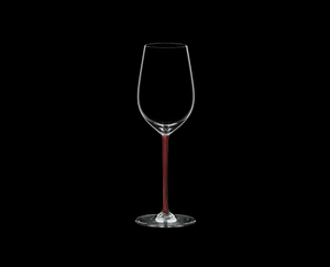 RIEDEL Fatto A Mano Riesling/Zinfandel Red on a black background