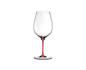 RIEDEL Fatto A Mano Performance Cabernet Sauvignon Red on a white background