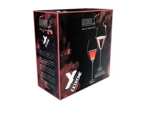 Unfilled RIEDEL Extreme Rosé Wine / Rosé Champagne Glass on white background