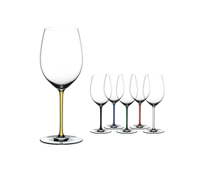 RIEDEL Fatto A Mano Cabernet/Merlot Yellow on a white background