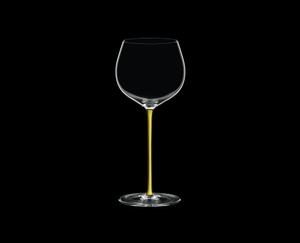 RIEDEL Fatto A Mano Chardonnay (im Fass gereift) Gelb R.Q. auf schwarzem Hintergrund