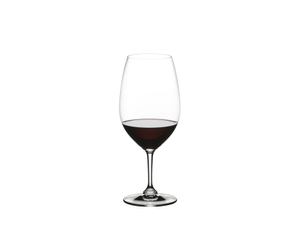 RIEDEL Restaurant Syrah filled with a drink on a white background