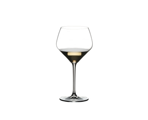 RIEDEL Extreme Restaurant Oaked Chardonnay filled with a drink on a white background