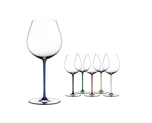 RIEDEL Fatto A Mano Pinot Noir Dark Blue on a white background