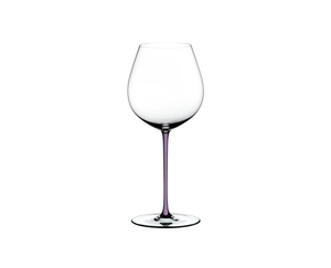 RIEDEL Fatto A Mano Pinot Noir Opal Violet on a white background