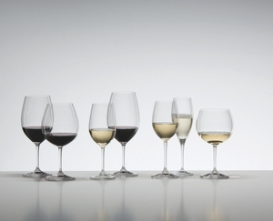 Unfilled RIEDEL Vinum Vintage Champagne Glass on white background