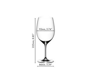 RIEDEL Vinum Cabernet Sauvignon/Merlot (Bordeaux) a11y.alt.product.dimensions