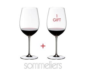 RIEDEL Sommeliers Bordeaux Grand Cru rempli avec une boisson sur fond blanc