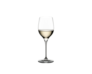 RIEDEL Grape@RIEDEL Viognier/Chardonnay filled with a drink on a white background