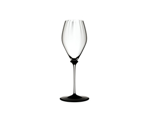 RIEDEL Fatto A Mano Performance Champagne Glass Black Base on a white background