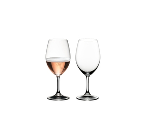 RIEDEL Drink Specific Glassware All Purpose Glass filled with a drink on a white background