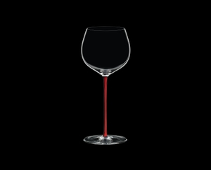 RIEDEL Fatto A Mano Oaked Chardonnay Red on a black background
