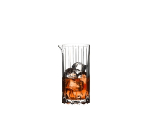 RIEDEL Drink Specific Glassware Mixing Glass filled with a drink on a white background