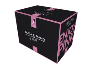 RIEDEL Fatto A Mano Champagne Wine Glass Pink in the packaging