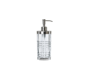 An unfilled NACHTMANN Square Spa Dispenser XL on white background