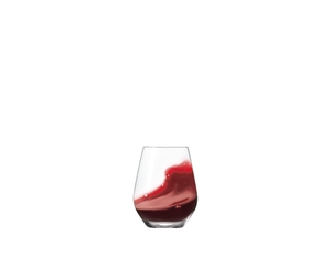 SPIEGELAU Authentis Casual All Purpose Tumbler filled with a drink on a white background
