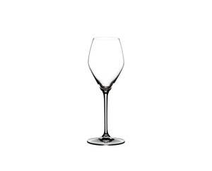 RIEDEL Extreme Rosé Wine / Rosé Champagne Glass filled with Rosé Champagne on white background