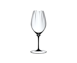 RIEDEL Fatto A Mano Performance Riesling Black Stem on a white background