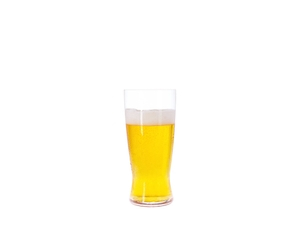SPIEGELAU Beer Classics Lager filled with a drink on a white background