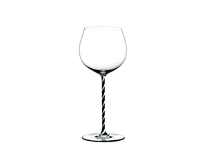 RIEDEL Fatto A Mano Oaked Chardonnay Black & White on a white background
