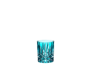 An unfilled RIEDEL Laudon Turquoise tumbler on white background