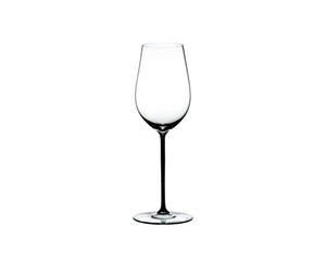 RIEDEL Fatto A Mano Riesling/Zinfandel Black on a white background