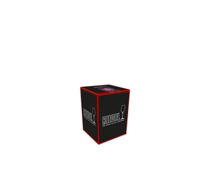 An unfilled RIEDEL Laudon Pink tumbler on white background with product dimensions