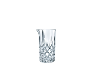 NACHTMANN Noblesse Mixing Glass filled with a drink on a white background