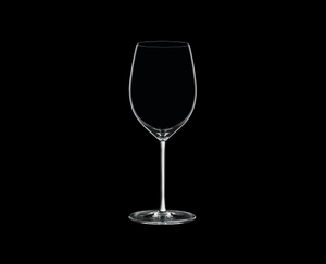 RIEDEL Fatto A Mano Cabernet/Merlot White R.Q. on a black background
