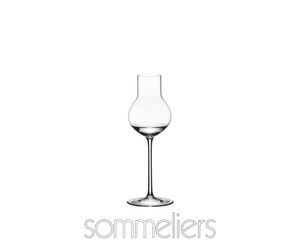 RIEDEL Sommeliers Stone Fruit filled with a drink on a white background