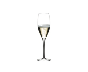 RIEDEL Sommeliers Vintage Champagne Glass filled with Champagne on white background