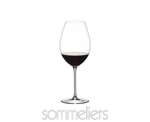 RIEDEL Sommeliers Tinto Reserva filled with a drink on a white background
