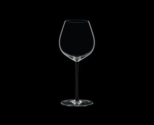 RIEDEL Fatto A Mano Pinot Noir Black on a black background