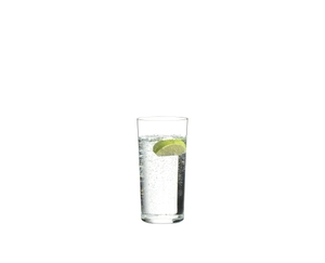 RIEDEL Manhattan Highball filled with a drink on a white background