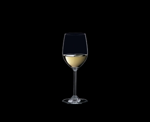 RIEDEL Wine Viognier/Chardonnay filled with a drink on a black background