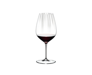 RIEDEL Performance Restaurant Cabernet filled with a drink on a white background