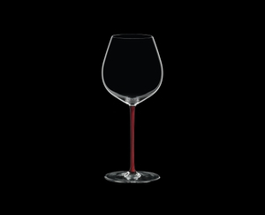 RIEDEL Fatto A Mano Pinot Noir Red on a black background
