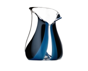 RIEDEL Champagne Cooler Black Tie Blue on a white background