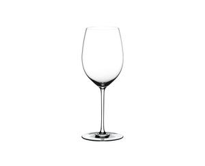 RIEDEL Fatto A Mano Cabernet/Merlot White R.Q. on a white background