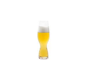 SPIEGELAU Craft Beer Glasses Craft Pils filled with a drink on a white background