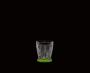 RIEDEL Tumbler Collection Fire Whisky Spring Green on a black background