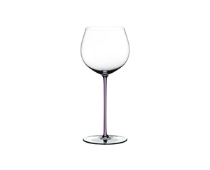 RIEDEL Fatto A Mano Oaked Chardonnay Opal Violet on a white background